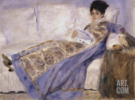 Portrait of Madame Claude Monet Stretched Canvas Print