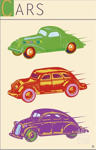 Cars Stretched Canvas Print