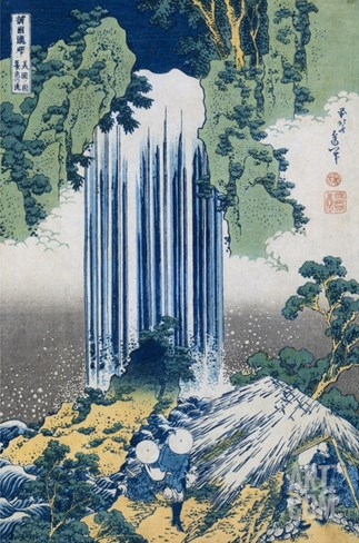 The Yoro Falls in Mino Province, from the Series A Journey to the Waterfalls of All the Provinces Stretched Canvas Print