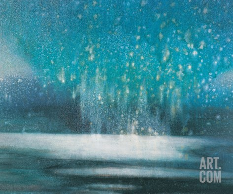 Starry Sky Stretched Canvas Print
