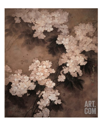 White Flowers Stretched Canvas Print