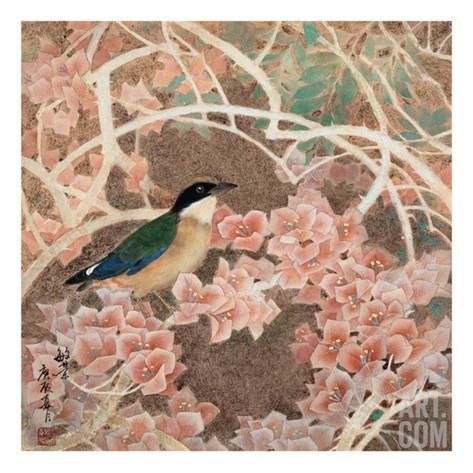 Lifespring - Japanese Blue-winged Pitta Stretched Canvas Print