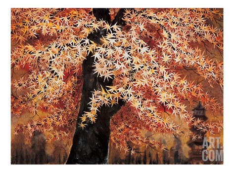 Maple Leaves Stretched Canvas Print