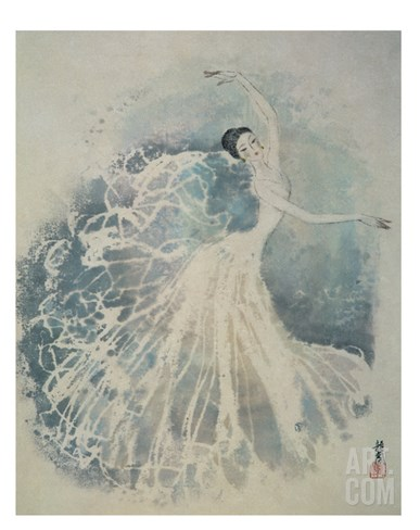 Classical Dancing Stretched Canvas Print