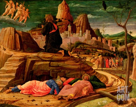 Agony in the Garden, C.1460 (Tempera on Panel) Stretched Canvas Print