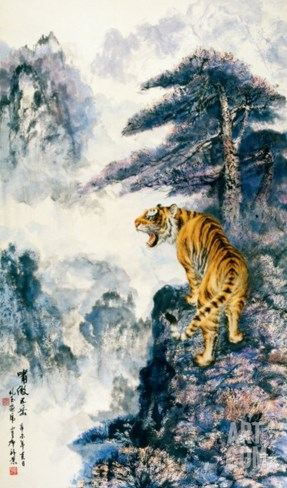 Tiger's Roar in the Valley Stretched Canvas Print