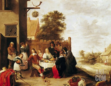 The Feast of the Prodigal Son, 1644 Stretched Canvas Print