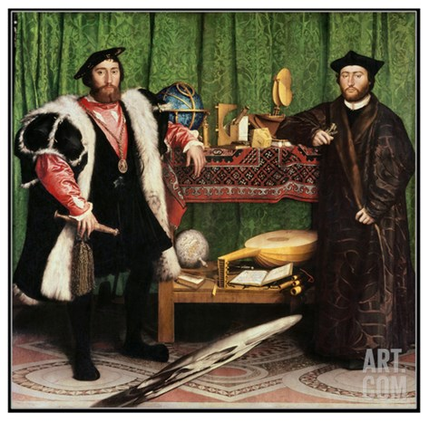 The Ambassadors, 1533 Stretched Canvas Print