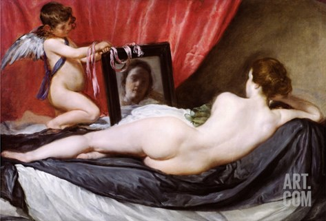 The Rokeby Venus, circa 1648-51 Stretched Canvas Print