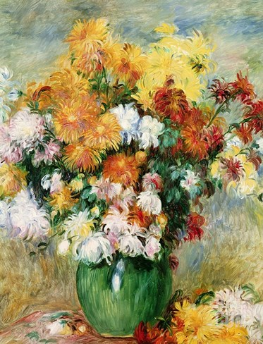 Bouquet of Chrysanthemums, circa 1884 Stretched Canvas Print