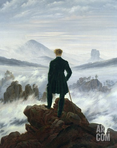 The Wanderer Above the Sea of Fog, 1818 Stretched Canvas Print