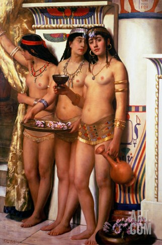 Pharaoh's Handmaidens Stretched Canvas Print