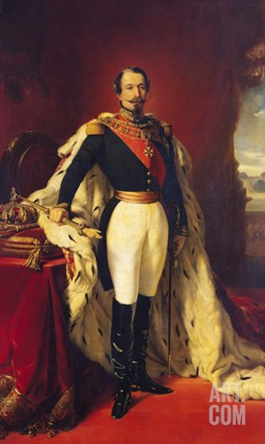 Portrait of Napoleon III (1808-73) Emperor of France Stretched Canvas Print