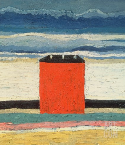 Red House, 1932 Stretched Canvas Print