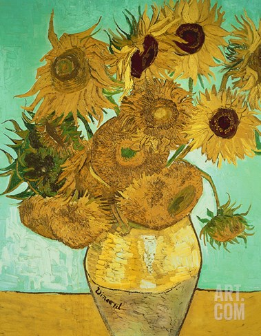 Sunflowers, c.1888 Stretched Canvas Print