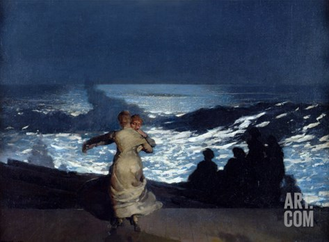 Summer Night, 1890 Stretched Canvas Print