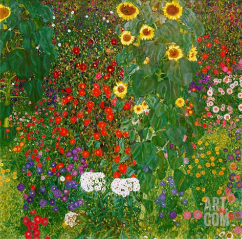 Garden with Sunflowers, 1905-6 Stretched Canvas Print