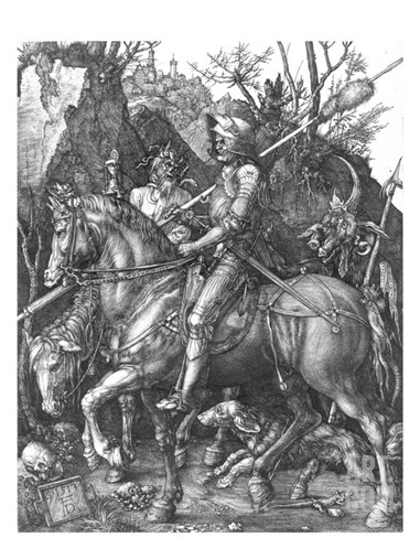 The Knight, Death and The Devil , c.1514 Stretched Canvas Print