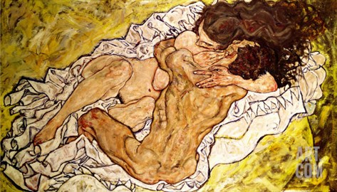 The Embrace, 1917 Stretched Canvas Print