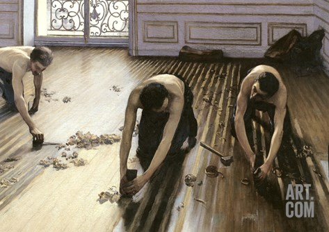 The Parquet Planers, 1875 Stretched Canvas Print