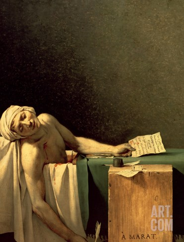 The Death of Marat, 1793 Stretched Canvas Print