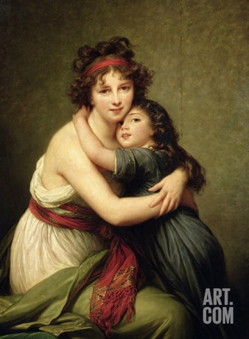 Madame Vigee-Lebrun and Her Daughter, Jeanne-Lucie-Louise (1780-1819) 1789 Stretched Canvas Print