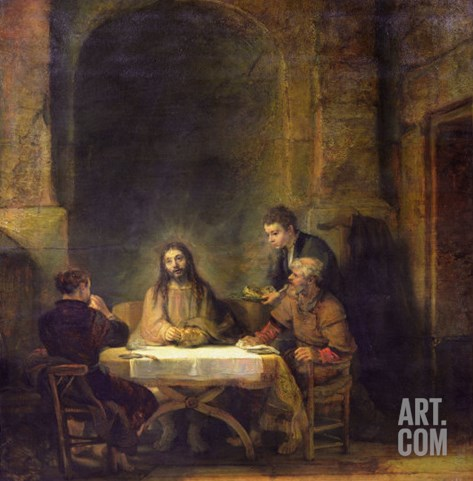 The Supper at Emmaus, 1648 Stretched Canvas Print