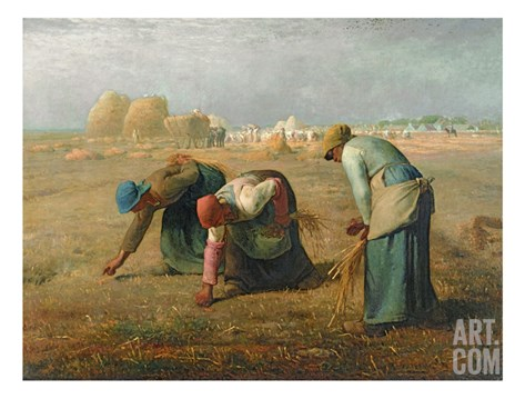 The Gleaners, 1857 Stretched Canvas Print
