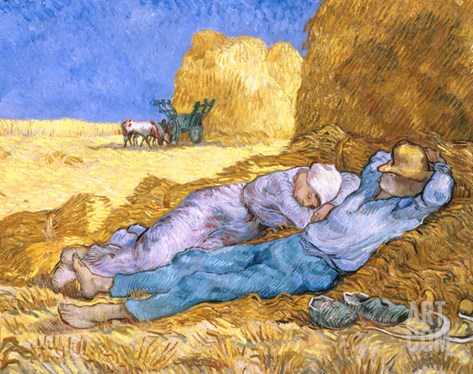 Midday Rest (after Millet), c.1890 Stretched Canvas Print
