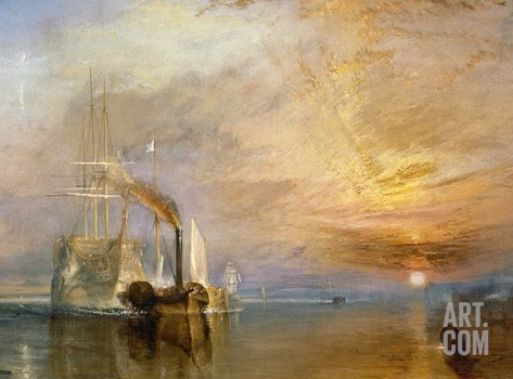 "The ""Fighting Temeraire"" Tugged to Her Last Berth to be Broken Up, Before 1839 Stretched Canvas Print"