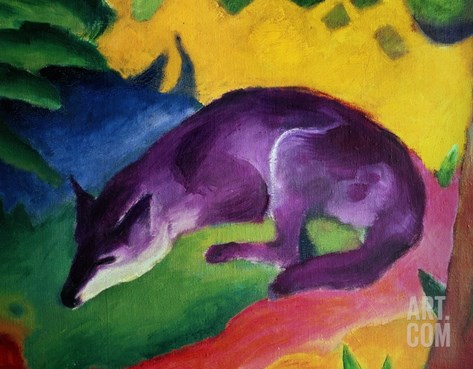 Blue Fox, 1911 Stretched Canvas Print