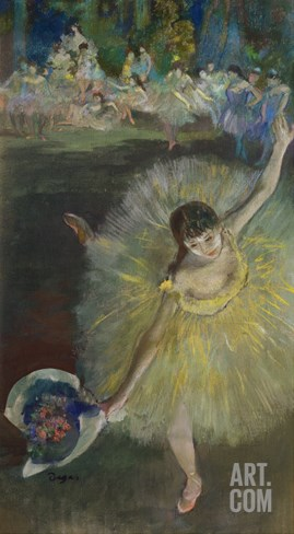 End of an Arabesque, 1877 Stretched Canvas Print
