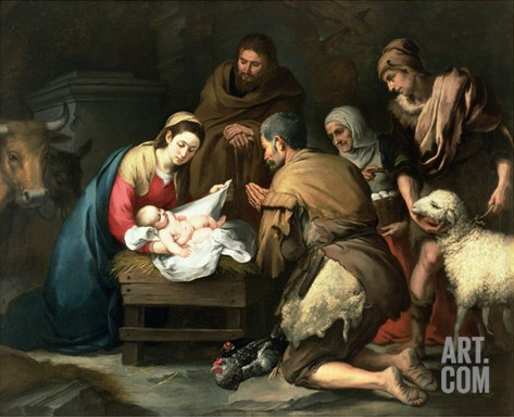 The Adoration of the Shepherds, c.1650 Stretched Canvas Print