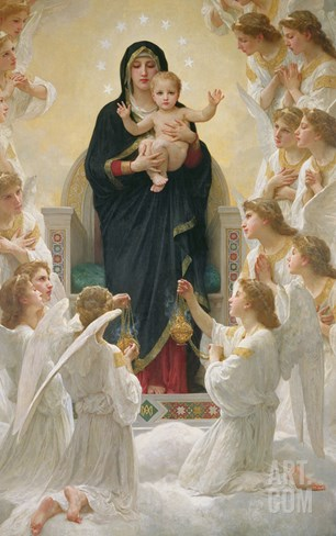 The Virgin with Angels, 1900 Stretched Canvas Print