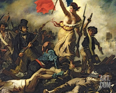 Liberty Leading the People, 28 July 1830 Stretched Canvas Print