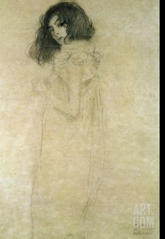 Portrait of a Young Woman, 1896-97 Stretched Canvas Print