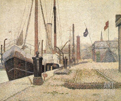 La Maria at Honfleur, 1886 Stretched Canvas Print