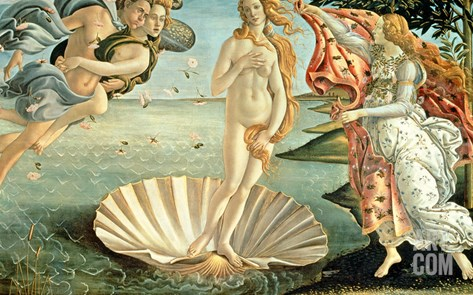 The Birth of Venus, c.1485 Stretched Canvas Print