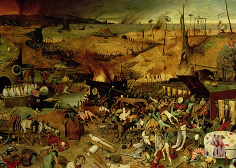 The Triumph of Death, circa 1562 Stretched Canvas Print