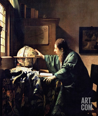 The Astronomer, 1668 Stretched Canvas Print