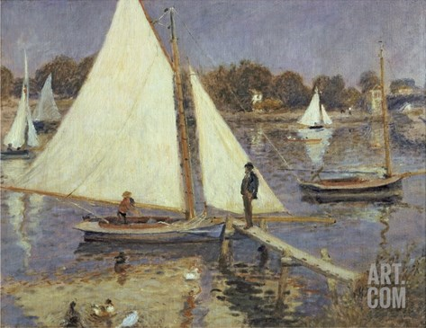 The Seine at Argenteuil, 1874 Stretched Canvas Print