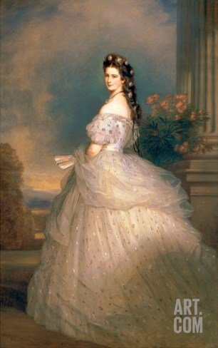 Elizabeth of Bavaria (1837-98), Empress of Austria, Wife of Emperor Franz Joseph (1830-1916) Stretched Canvas Print