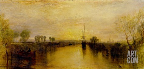 Chichester Canal, circa 1829 Stretched Canvas Print