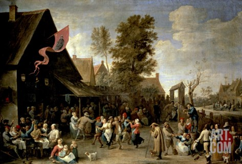 The Consecration of a Village Church, circa 1650 Stretched Canvas Print
