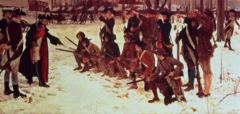 Baron Von Steuben Drilling American Recruits at Valley Forge in 1778, 1911 Stretched Canvas Print