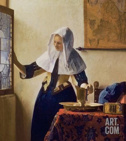 Young Woman with a Water Jug, circa 1662 Stretched Canvas Print
