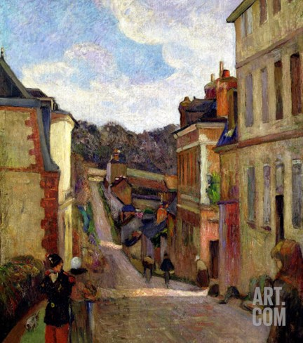 A Suburban Street, 1884 Stretched Canvas Print