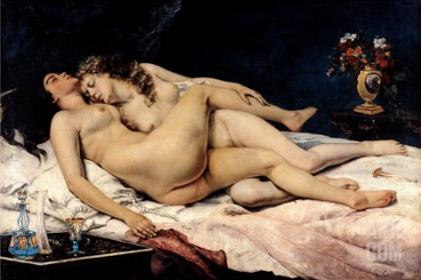 Le Sommeil, 1866 Stretched Canvas Print