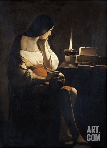 Mary Magdalene with a Night-Light, or the Terff Magdalene Stretched Canvas Print