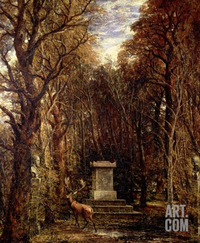 The Cenotaph to Reynold's Memory, Coleorton, circa 1833 Stretched Canvas Print